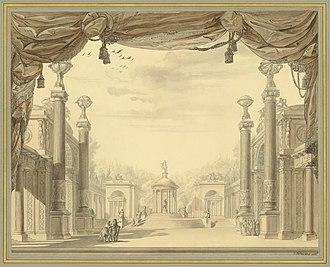 Alceste (Gluck) - Set design by François-Joseph Bélanger for the 1776 French-lamguage première