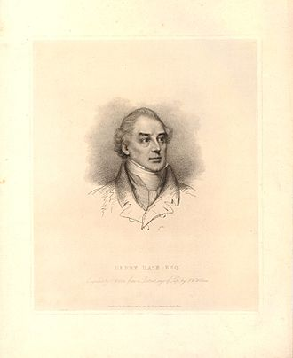 Henry Hase (cashier) - Henry Hase Esq. Stipple engraving by and published by Charles Wilkin after Francis William Wilkin, 1821.
