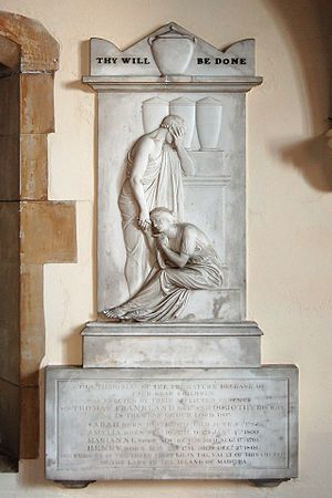Sir Thomas Frankland, 6th Baronet - Frankland memorial by John Flaxman R.A.