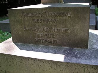 Frederick Townsend - Detail of Townsend's grave
