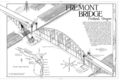 Fremont Bridge, Spanning Willamette River, carrying Interstate 405 northbound and southbound, Portland, Multnomah County, OR HAER OR-104 (sheet 1 of 1).png