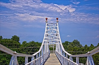 Jefferson Avenue Footbridge - Image: Frisco Pedestrian Footbridge