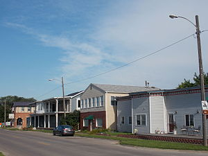 Buffalo, Iowa - Buildings along Front Street