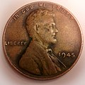 Front side Wheat Penny 1945-P.jpg