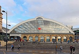 Frontage of Liverpool Lime Street railway station