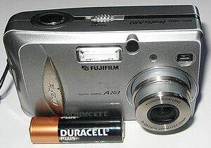 Fujifilm FinePix - Image: Fujifilm Fine Pix A203 digital camera