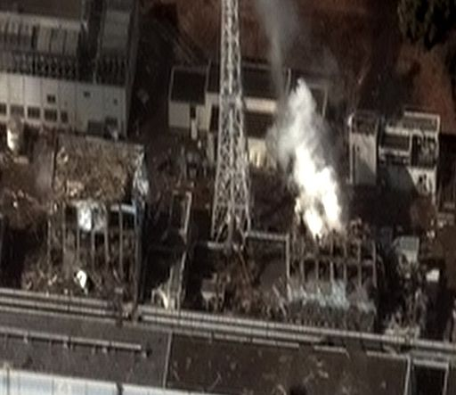 Fukushima I reactor units 3 and 4 by Digital Globe