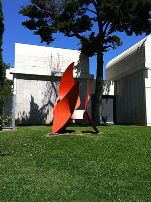 Fundació Joan Miró - 4 Wings by Alexander Calder in the garden
