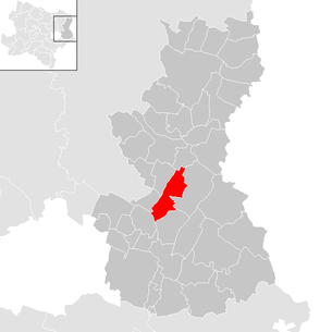Location of the municipality of Gänserndorf in the Gänserndorf district (clickable map)