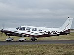 G-BHGO Piper Cherokee Six 32 (30847130135).jpg