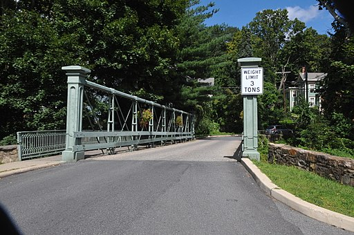 GLEN GARDNER PONY PRATT TRUSS BRIDGE, HUNTERDON COUNTY, NJ