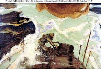Osmond Ingram - GM1 O. K. Ingram aboard USS Cassin on October 15, 1917