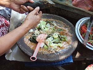 Gado-gado - A traditional Indonesian way of making gado-gado.