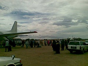 Abdullahi Yusuf Ahmed - Galkayo Airport, renamed to Abdullahi Yusuf International Airport in honor of Abdullahi Yusuf Ahmed.