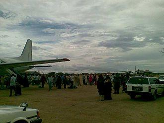 Abdullahi Yusuf Ahmed - Galkayo Airport, renamed to Abdullahi Yusuf International Airport in honor of Abdullahi Yusuf Ahmed.