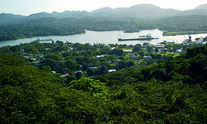 John G. Claybourn - Gamboa and the Panama Canal as seen from the Gamboa Rainforest Resort's Canopy Tower