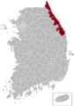 Gangneung Postal central office precinct map.png