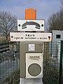 Gare de Mionnay - PN n°8 Ligne de Sathonay à Bourg.JPG