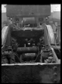 Garratt locomotive frames at the Hutt Railway Workshops, showing accumulated dirt ATLIB 311329.png