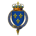 Gartered arms of Louis XVIII, King of France.png