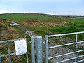 Gateway and farm track near Bishopstone, Swindon - geograph.org.uk - 677567.jpg