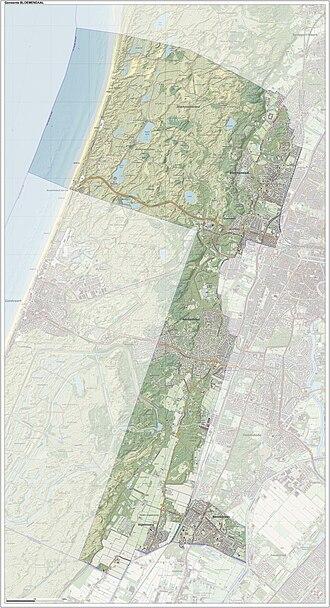 Bloemendaal - Dutch Topographic map of Bloemendaal, June 2015