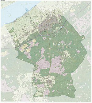 Nunspeet - Dutch Topographic map of Nunspeet, June 2015