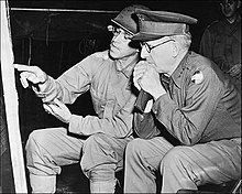 McNair with General Omar Bradley during Louisiana maneuvers