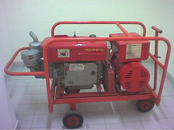 English: This is a generator.
