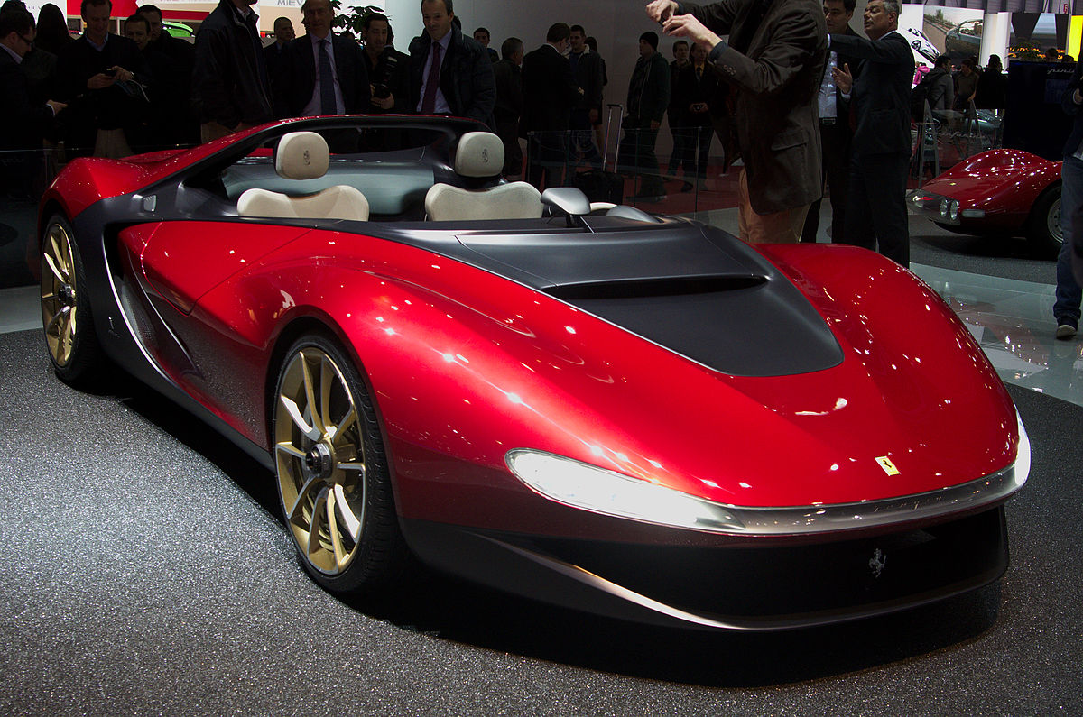 Ferrari Pininfarina Sergio expensive luxury car in red