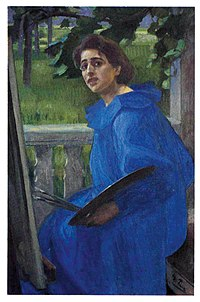 Georg Pauli - Hanna i blå klänning - 1896 - Jönköpings läns museum.jpg