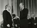 George B. Dantzig at National Medal of Science Awards Ceremony, 1976.jpg