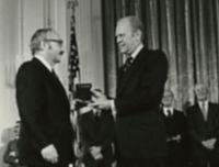 George B. Dantzig at National Medal of Science Awards Ceremony, 1976.jpg