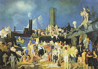 1915 in art - Image: George Wesley Bellows Riverfront No. 1 (1915)