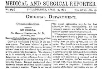 George Huntington - George Huntington's paper