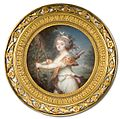 Georges Nicolas Toussaint Augustin (Augustin Dubourg) - Lady as Diana, c.1780-5. Watercolour on ivory.jpg