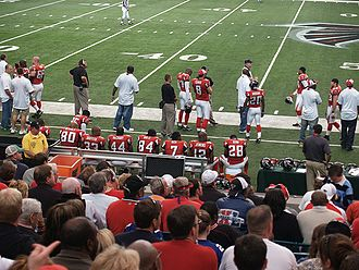 2006 Atlanta Falcons season - Michael Vick (among other players) on the sidelines during week 6