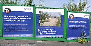 Geothermal power in the United Kingdom - Newcastle Science Central geothermal site