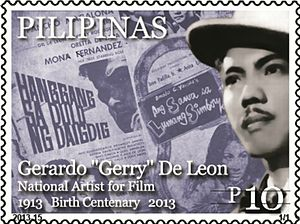 Gerardo de León - Gerardo de León on a 2013 stamp of the Philippines