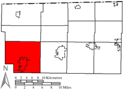 Location of German Township in Fulton County