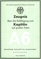 German merchantmarine captains licence - 1965.png