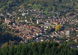de:Gernsbach von Südosten; en:Gernsbach seen from the southeast