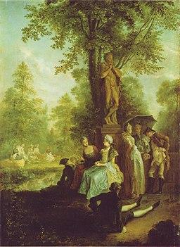 Towarzystwo w Tiergarten, Daniel Chodowiecki, 1780