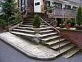 Geteilte Außentreppe in Bad Kissingen, Kurhausstr. 11b.jpg