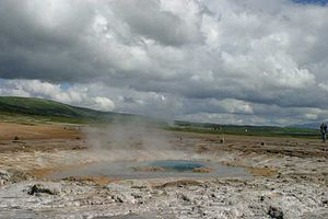 image of Geyser exploding 1 large