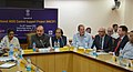 Ghulam Nabi Azad addressing at the launch of National AIDS Control Support Project, in New Delhi. The Ministers of State for Health & Family Welfare, Smt. Santosh Chowdhary and Shri A.H. Khan Choudhury are also seen.jpg