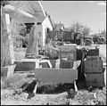 Gila River Relocation Center, Rivers, Arizona. Household goods ar picked up and stored in warehouse . . . - NARA - 539840.jpg