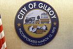 Gilroy, California City Seal in Council Chamber 2013-06-06.jpg