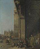 Giovanni Antonio Canal - Venice, Piazza San Marco and the Colonnade of the Procuratie Nuove.jpg