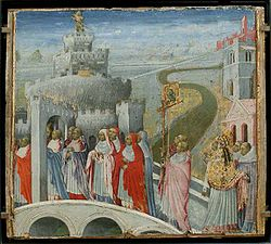 Giovanni di Paolo: The Procession of St. Gregory to the Castel Sant' Angelo